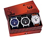 #4: Armado AR-078BBW Combo Of 3 Stylish Analog Watch-For Men