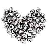 Mudder Silver Jingle Bells Bulk for Christmas Decorations DIY Craft, 1 Inch, 40 Pack
