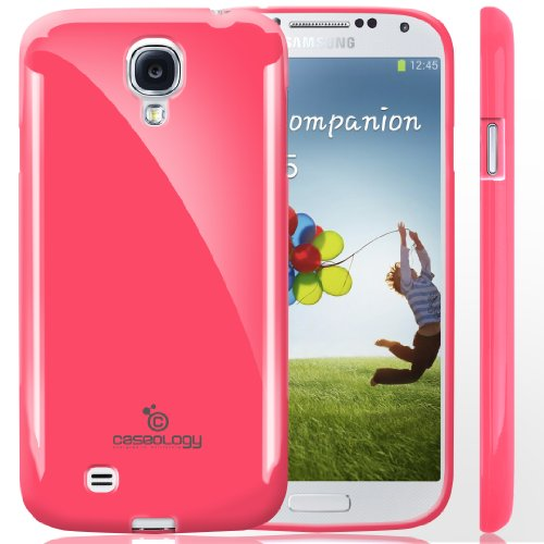 Galaxy S4 Case, Caseology [Drop Protection] Samsung Galaxy S4 Case [Hot Pink] Slim Fit Tpu Cover [Shock Absorbent] Armor Bumper Galaxy S4 Case (For Samsung Galaxy S4 Verizon, At&T Sprint, T-Mobile, Unlocked) front-218622