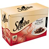 Sheba Cat Food Pouches Meat Selection in Gravy 12x85g (Pack of 4, Total 48 Pouches)