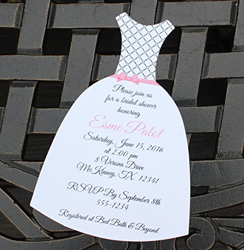 Wedding dress bridal shower invitations fashion dresses wedding dress bridal shower invitations filmwisefo Image collections