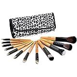 Glow lot 12 maquillage Pinceaux trousse cas d'impression de léopard
