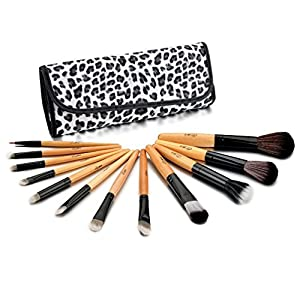 Glow Professional 12-Piece Makeup Brush Set, Leopard Print