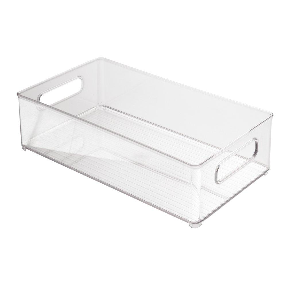 Interdesign Refrigerator Freezer Storage Organizer Bins For Kitchen 8 X 4 X 14 Ebay