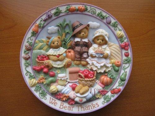 Cherished Teddies We Bear Thanks Plate