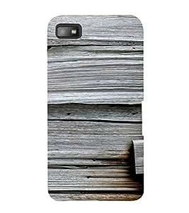 PrintVisa 3D Wooden Pattern 3D Hard Polycarbonate Designer Back Case Cover for Blackberry Z10