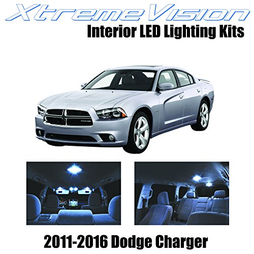 XtremeVision Dodge Charger 2011-2016 (16 Pieces) Cool White Premium Interior LED Kit Package+Installation (Dodge Charger Car compare prices)