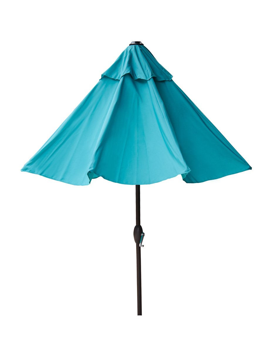 Patio Umbrella Crank Diagram: New 9 Ft Outdoor Patio Market Umbrella With Auto Tilt And