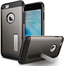 iPhone 6s Case, Spigen® [Slim Armor] Built-in Kickstand [Gunmetal] Air Cushioned Corners Protection for Apple iPhone 6 / iPhone 6s - Gunmetal (SGP11605)