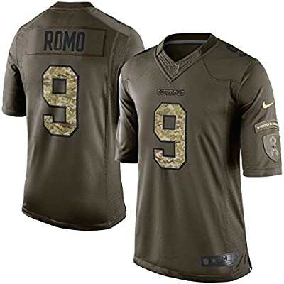 Nike Tony Romo Dallas Cowboys Green Salute To Service Limited Jersey