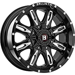 Ballistic Scythe 17 Black Wheel / Rim 6×5.5 with a 12mm Offset and a 110 Hub Bore. Partnumber 953790655+12GBX
