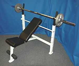 Olympic Weight Bench Olympic Bench Press With 300 Lb Olympic Weight Set Sports
