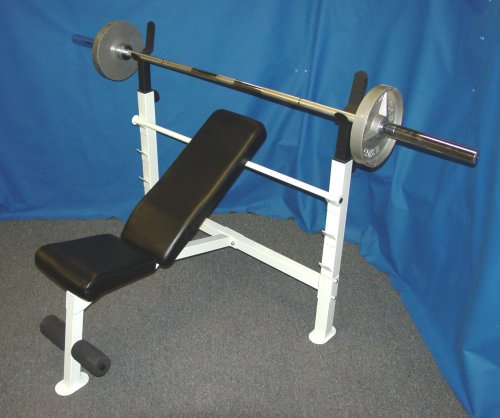Olympic Weight Bench / Olympic Bench Press with 300 lb Olympic Weight Set