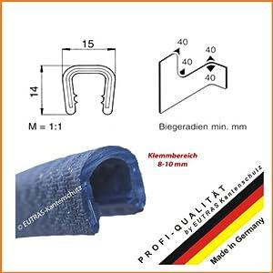 Kantenschutz SCHWARZ 8-10 mm Kantenschutzprofil Gummiprofil Keder Kederband: Länge: 5 m