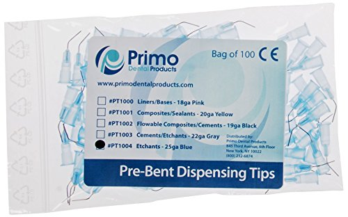 primo-dental-products-pt1004-pre-bent-etchant-tips-25-gal-blue-pack-of-100