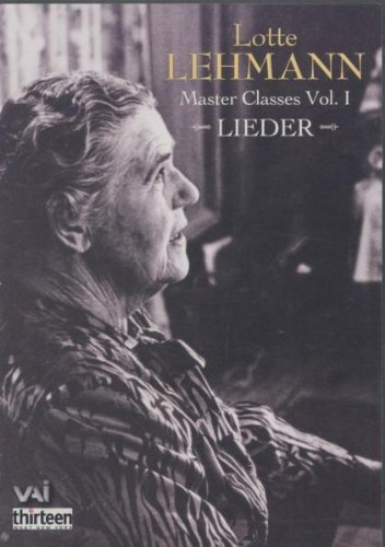 Lotte Lehmann Master Classes Vol. 1 [1951] [DVD]