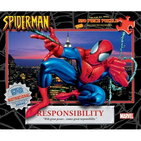 Buy Spiderman – Responsibility 550pc Puzzle