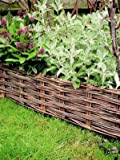 Willow Woven Hurdle (Edging) - Set of 2 - H0.2m x L1.2m