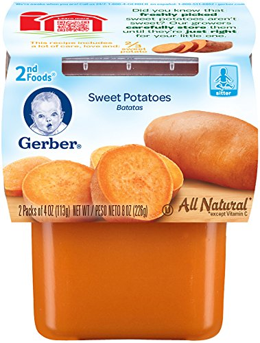 Gerber Purees 2nd Foods, Sweet Potatoes, 8 Ounce (Pack of 8) - 1