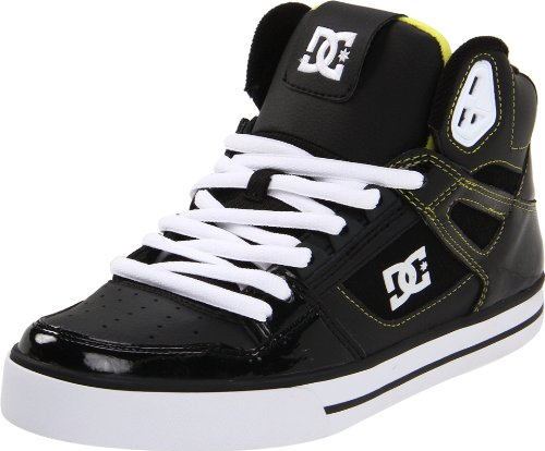 DC Spartan High Black/White/Yellow Skate Shoes Trainers UK 6.5