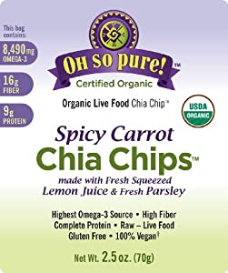 Oh So Pure! Organic Chia Chips - Spicy Carrot by Organic Vegan Superfoods, LLC