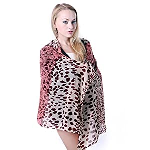 HDE Women's Animal Print Chiffon Fashion Scarf (Style #1)
