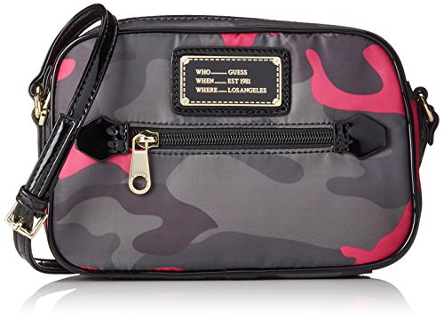 guess-florencia-crossbody-top-zip-sacs-a-main-femme-rose-camu-pink-taille-unique