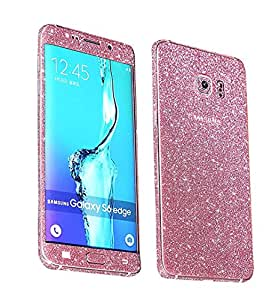 Heartly Sparking Bling Glitter Crystal Diamond Protective Film Whole Body Phone Skin Sticker For Samsung Galaxy Note 7 - Cute Pink
