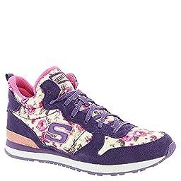 Girl\'s Skechers, Retrospect Hollywood Rose Sneaker Purple/Pink 1 M