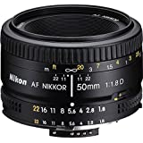 Nikon AF FX NIKKOR 50mm f/1.8D Fixed Zoom Lens with Auto Focus for Nikon DSLR Cameras