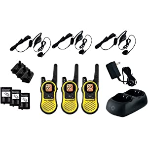 MOTOROLA MH230TPR 23-Mile Talkabout(R) 2-Way Radios Triple Pack with Accessories by Motorola