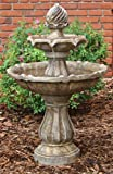 Two Tier Solar On Demand Fountain-Earth Tone