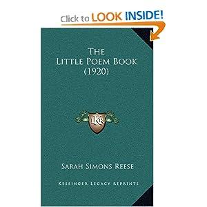 bol.com   The Little Poem Book, Sarah Simons Reese ...