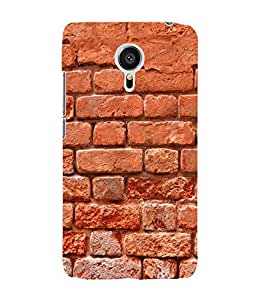 Fuson 3D Printed Brick Wall Designer Back Case Cover for Meizu MX5 - D889