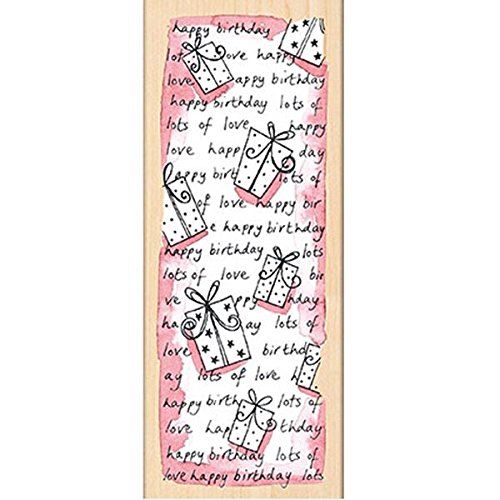 Penny Black 311697 Birthday Pattern Mounted Rubber Stamp, 2.25 by 6-Inch