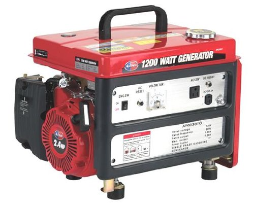 All Power America APG3301C 1,200 Watt 4-Stroke Gas Powered Portable Generator (CARB Compliant) All Power America B002GJTGXA