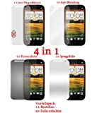 4x Cadorabo ! Displayschutzfolie Schutzfolie f�r HTC ONE SV (1x Privacy- 1x Spiegel- 1x Matt 1x Anti Fingerabdruck)