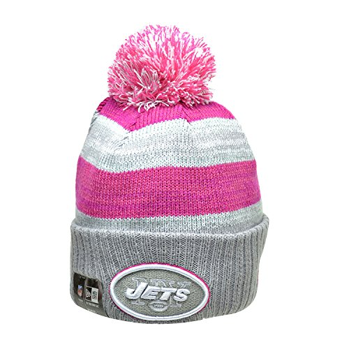 New Era New York Jets NFL Women's Knit Hat Grey/Pink 11297877 (Size os)