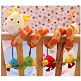 ELENKER Giraffe Baby Crib Toy from Wrap Around Crib Rail Toy or Stroller Toy Favorite Baby Toys