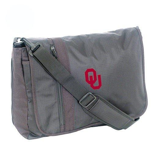 Mercury Luggage Oklahoma Sooners Black Messenger Bag