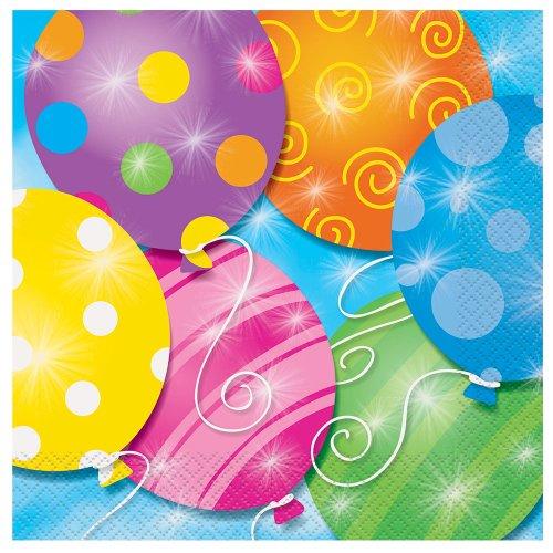 Twinkle Balloons Luncheon Napkins, 16ct