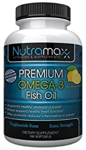 Omega 3 Fish Oil Softgels Triglyceride Form 1000mg - Extra Strength Fish Oil Pills, High EPA and DHA - Premium TG Omega 3 Fish Oil From Iceland - Lemon Flavored Fish Oil Supplement - Satisfaction Guaranteed Or Your Money Back!
