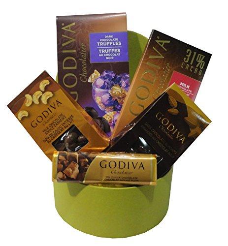Small Godiva Chocolate Basket Green