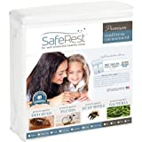 Twin XL Size SafeRest Premium Waterproof Lab Certified Bed Bug Proof Zippered Mattress Encasement (Fits 6 - 9 in. H) - Designed For Complete Bed Bug, Dust Mite and Fluid Protection