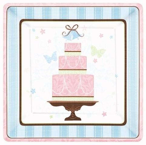 Bridal Shower 'Blushing Bride' Large Paper Plates (18ct) - 1