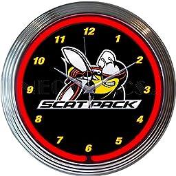 Neonetics Dodge Scat Pack Neon Clock