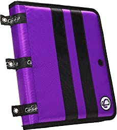 Case-it Locker Ringer Accessory Presentation Binder with 1-Inch O-Rings, Purple, PRE-02-PUR