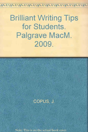 Brilliant Writing Tips for Students. Palgrave MacM. 2009.