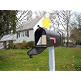 Mail Time! ® Yellow Mailbox Alert Flag for Long Driveways