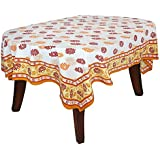 Home Decor Accessories Rectangle Cotton Tablecloth 60X84 Inch Indian Colorful Floral Print